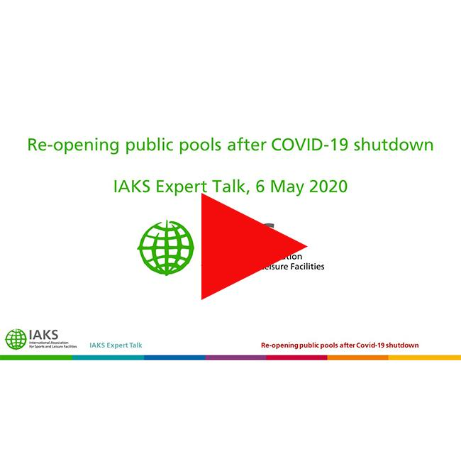 IAKS Expert Talk - Re-opening public pools after COVID-19 shutdown Pfeil
